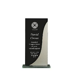 Glass Award 1255-1BKS - Trophy Land
