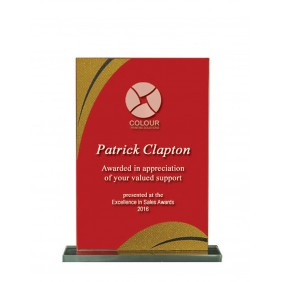 Glass Award 1255-2RG - Trophy Land