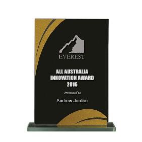 Glass Award 1255-3BKG - Trophy Land