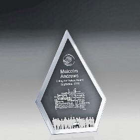 Glass Award 1256-1ARROW - Trophy Land