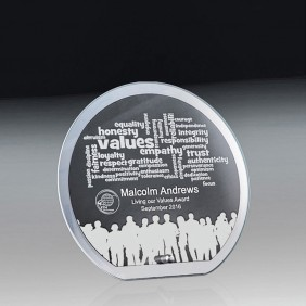 Glass Award 1256-1CIRCLE - Trophy Land