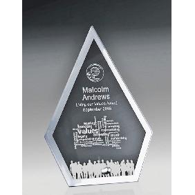 Glass Award 1256-2ARROW - Trophy Land