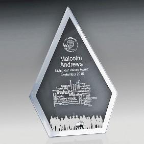 Glass Award 1256-3ARROW - Trophy Land