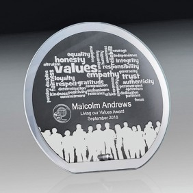 Glass Award 1256-3CIRCLE - Trophy Land