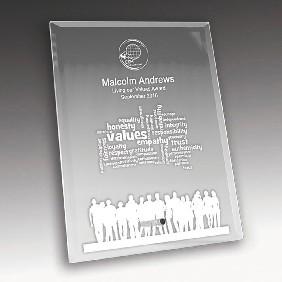 Glass Award 1270-3CL - Trophy Land