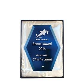 Glass Award 1271-1BU - Trophy Land