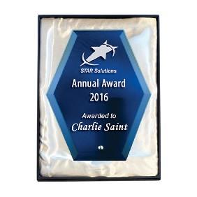 Glass Award 1271-3BU - Trophy Land
