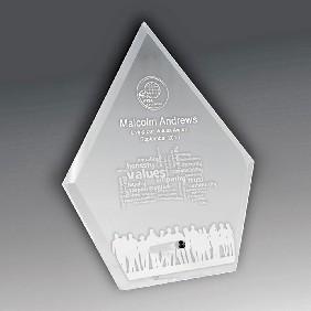 Glass Award 1272-3CL - Trophy Land