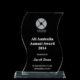 Glass Award 1335-2 - Trophy Land