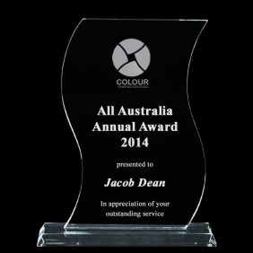 Glass Award 1335-3 - Trophy Land