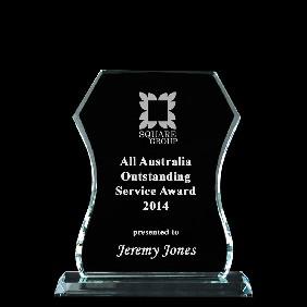 Glass Award 1338-1 - Trophy Land