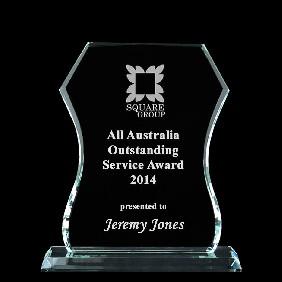 Glass Award 1338-2 - Trophy Land
