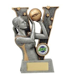 Netball Trophy 21491A - Trophy Land