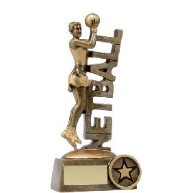 Netball Trophy A1221B - Trophy Land