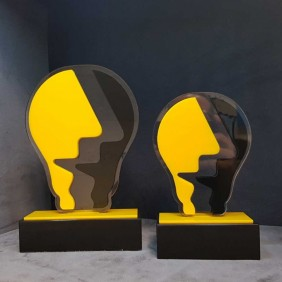 Custom Awards Gallery Acrylic Light Bulb Award - Trophy Land