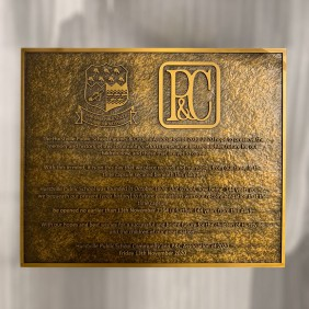 Signage Gallery Brass Cast Plaque - Trophy Land