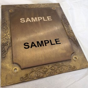 Engraving Gallery Brass Sign Engraving - Trophy Land
