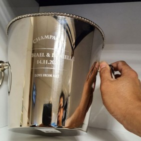 Engraving Gallery Champagne Bucket - Trophy Land