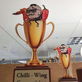 Custom Awards Gallery Chilli Wing 2D Trophy - Trophy Land