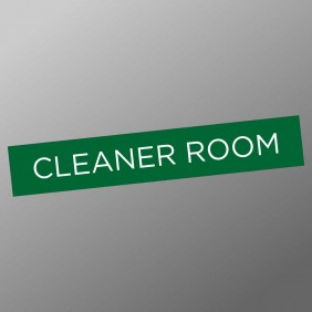 Signage Gallery Cleaner Room Sign - Trophy Land