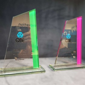 Corporate Awards Gallery Colour Printed Glass - Trophy Land