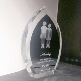 Corporate Awards Gallery Crystal with Lasered Aluminium - Trophy Land