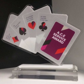Custom Awards Gallery Custom Acrylic Card Trophy - Trophy Land