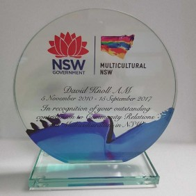 Corporate Awards Gallery Direct Print Glass - Trophy Land