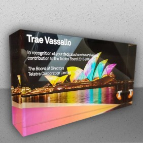Corporate Awards Gallery Direct Printed Crystal Block - Trophy Land