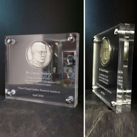 Custom Awards Gallery Encased Coin - Trophy Land
