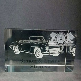 Corporate Awards Gallery Etched Car - Trophy Land