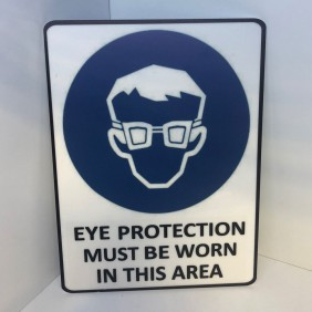 Custom Info Signage Eye Protection Sign - Trophy Land