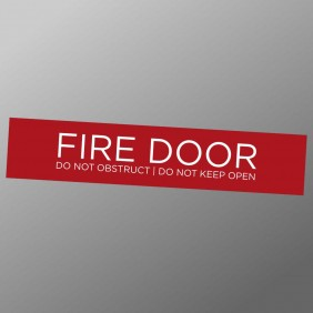 Signage Gallery Fire Door Sign - Trophy Land