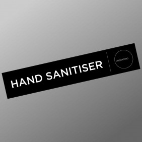 Custom Info Signage Hand Sanitiser Sign - Trophy Land