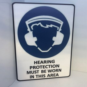 Custom Info Signage Hearing Protection Sign - Trophy Land
