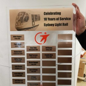 Honourboards Gallery Light Rail Perpetual - Trophy Land