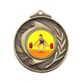 Weightlifting Medal M101-K182 - Trophy Land