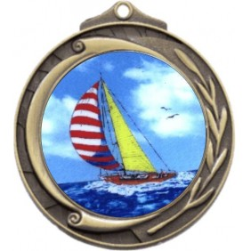 Sailing Medal M102-K147 - Trophy Land