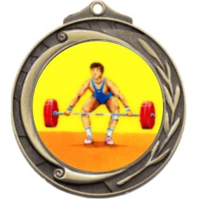 Weightlifting Medal M102-K182 - Trophy Land