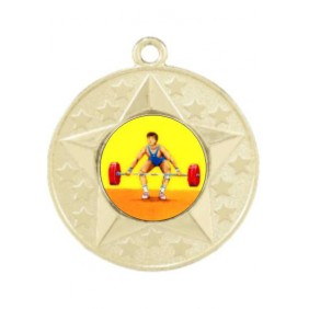 Weightlifting Medal M156-K182 - Trophy Land