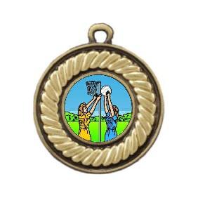 Netball Medal M159-K122 - Trophy Land