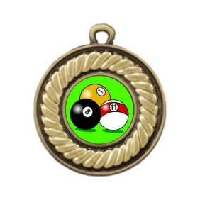 Snooker Medal M159-K129 - Trophy Land