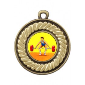 Weightlifting Medal M159-K182 - Trophy Land