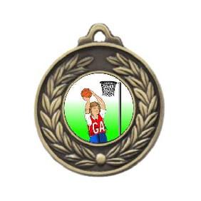 Netball Medal M160-K123 - Trophy Land