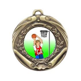 Netball Medal M172-K123 - Trophy Land