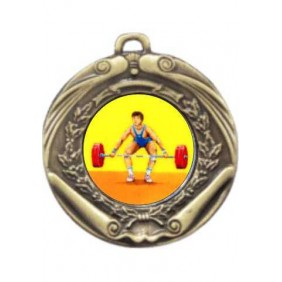 Weightlifting Medal M172-K182 - Trophy Land