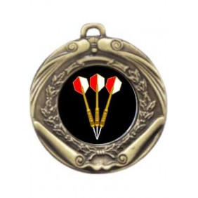 Darts Medal M172-K68 - Trophy Land