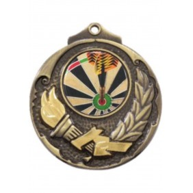 Darts Medal M411-C381 - Trophy Land