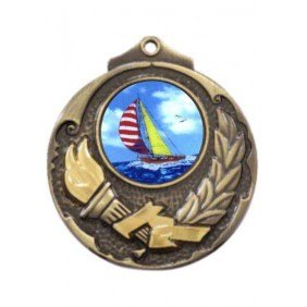 Sailing Medal M411-K147 - Trophy Land