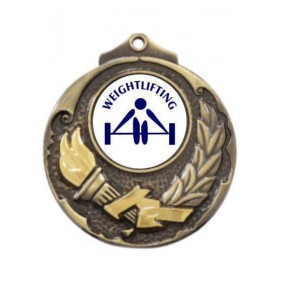 Weightlifting Medal M411-TLWeight - Trophy Land